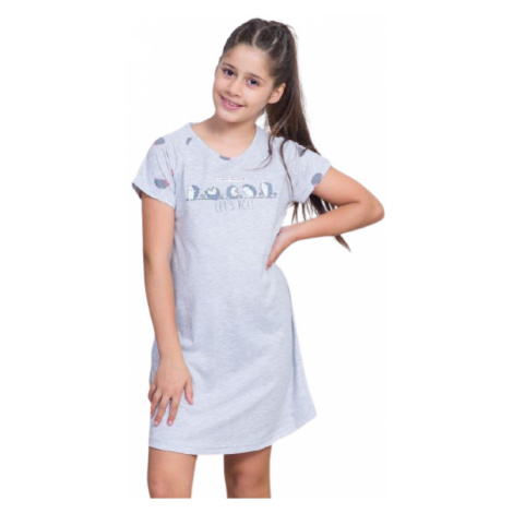 Dětská noční košile s krátkým rukávem Vienetta Secret Ježci   šedá