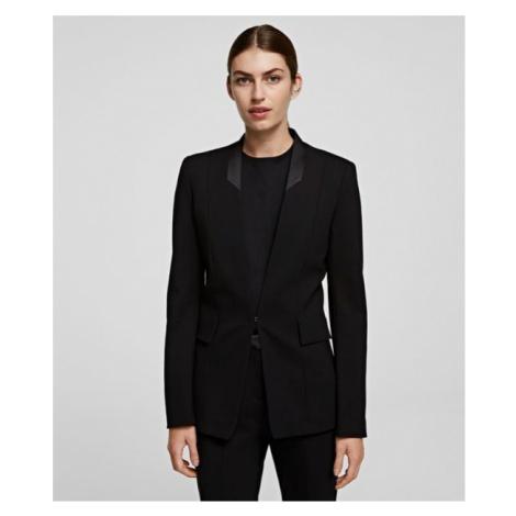 Sako Karl Lagerfeld Punto Jacket W/ Satin Lapel - Černá
