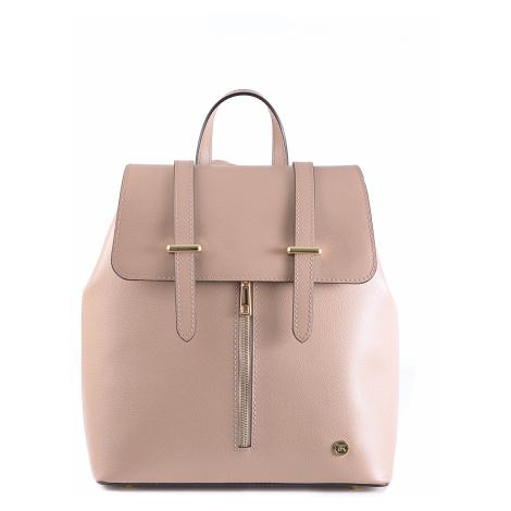 BRIGHT Dámská kožená kabelka/batoh Starorůžová, 28 x 14 x 33 (BR19-CHP4015-27PLM)