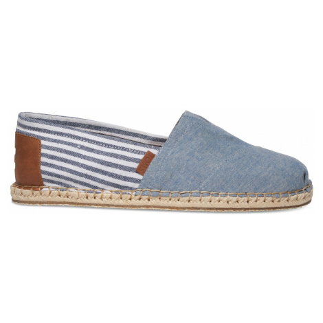 Chambray Blanket Stitch Men's Alpargatas Toms