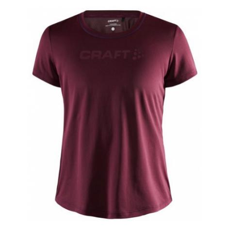 Dámské tričko CRAFT CORE Essence Mesh SS tmavě červená