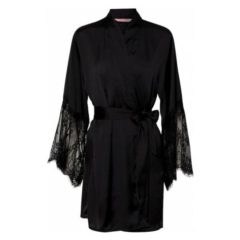 Hunkemöller Negližé 'Kimono Lace' černá Hunkemoller