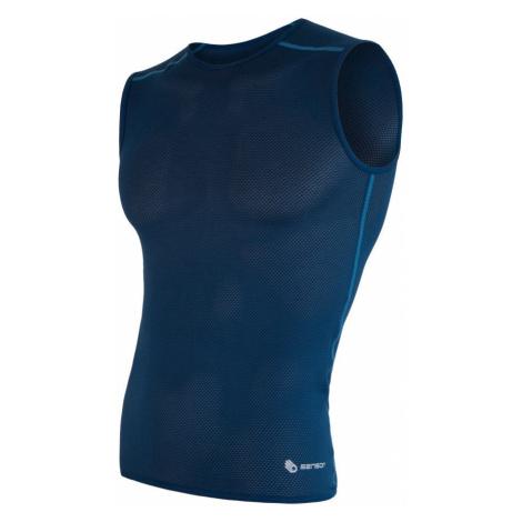 SENSOR COOLMAX AIR pánské triko bez rukávů tm.modrá