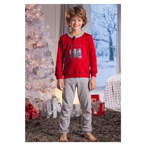Dětské pyžamo Cotonella DB284 Regatta-červ