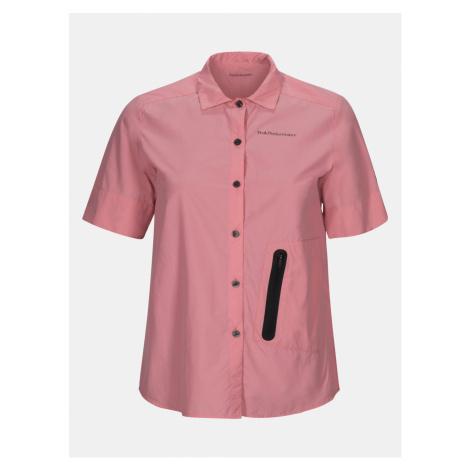 Košile Peak Performance Wtrailshss - Růžová