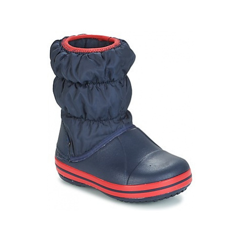Crocs WINTER PUFF BOOT KIDS Modrá