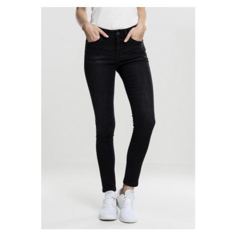Urban Classics Ladies Skinny Denim Pants black washed