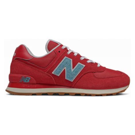 New Balance ML574STR červená - Pánská volnočasová obuv
