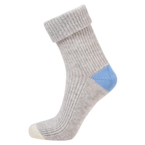 Ponožky Camel Active Camel Women Bootsocks Cosy Light Grey Mel 35-38 - Šedá