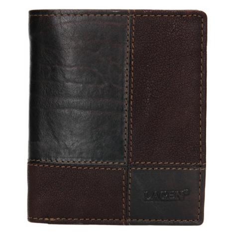 Pánská kožená peněženka Lagen Apolo - tmavě hnědá