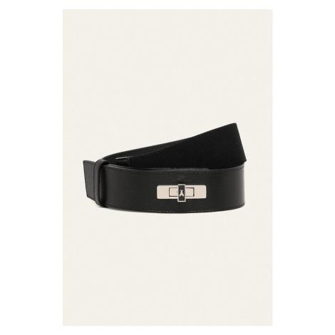 Černý kožený pásek - PATRIZIA PEPE
