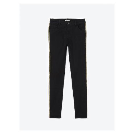 GATE Kalhoty skinny se zlatými lampasy