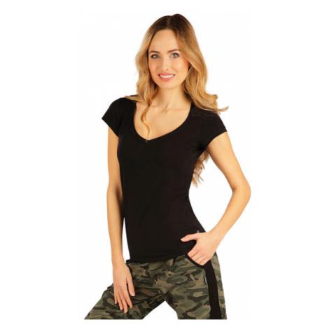 Dámské triko s krátkým rukávem Litex 99592 | černá