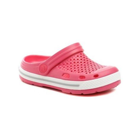 Coqui 6423 Lindo růžové dětské nazouváky Růžová