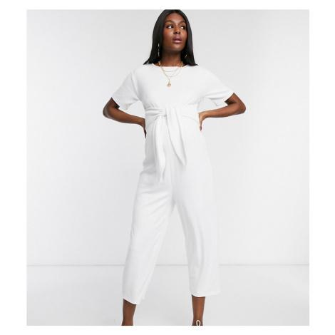ASOS DESIGN Maternity lounge jumpsuit-Cream