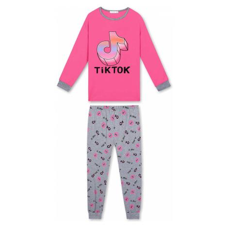 Dívčí pyžamo - KUGO MP1304, růžová sytě