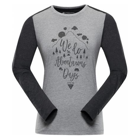 Dámské triko Alpine Pro GENA - šedo-černá