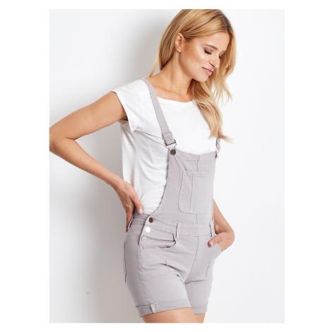 Short gray dungarees Fashionhunters
