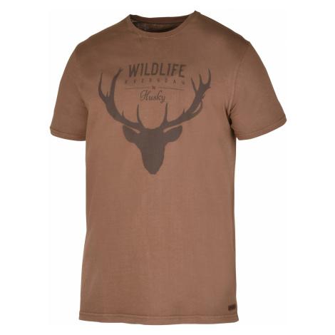 Husky Deer M, hnědá Pánské triko