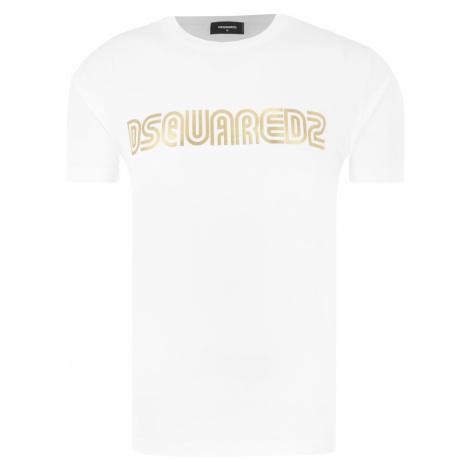 DSQUARED2 Logo Gold tričko Dsquared²
