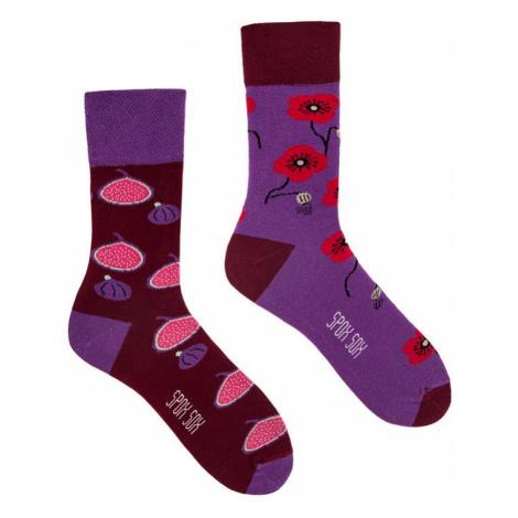 Fialově-bordové ponožky Spox Sox Fig & Poppy seed