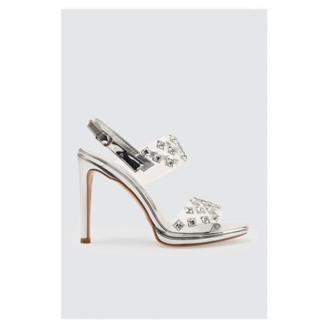 Trendyol Silver Stone Transparent Women's Classic Heels