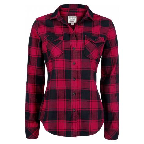 Brandit Flanelová kostkovaná košile Amy dívcí halenka cerná/cervená