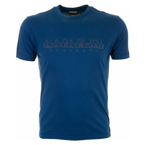 Pánské modré tričko Napapijri s velkým logem
