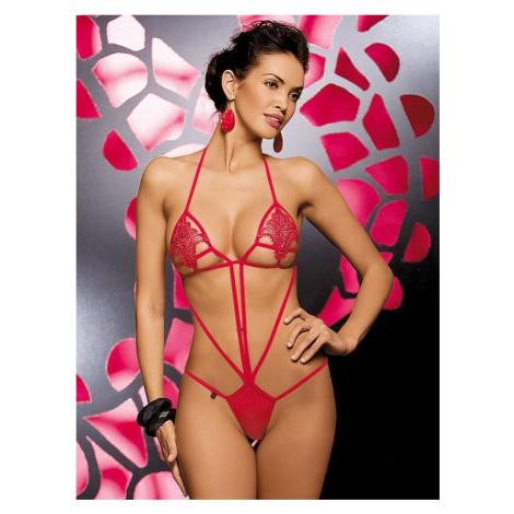 Erotické body Luiza teddy - Obsessive Červená