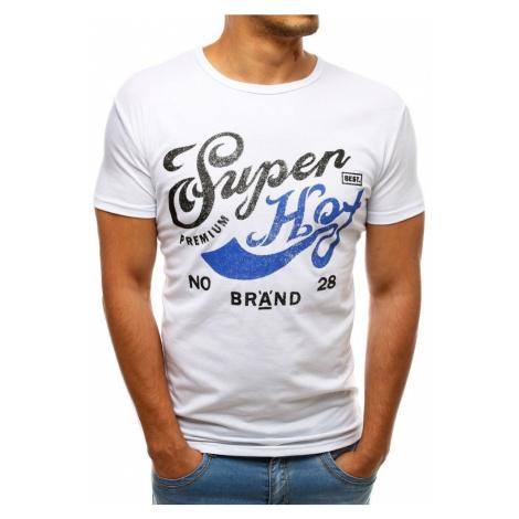Dstreet Jedinečné bílé tričko SUPER HOT
