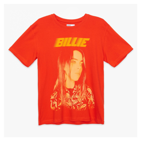 Cropp - Tričko s potiskem Billie Eilish - Červená