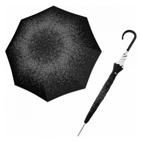 Černobílý elegantní vystřelovací dámský holový deštník Aretha Doppler