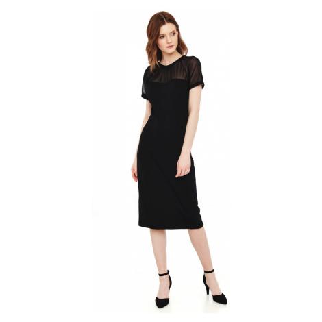 Společenské černé šaty s krátkými průhlednými rukávy Vive Maria Charm Etui