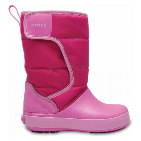 sněhule Crocs Lodgepoint Snow boot - Candy Pink/party pink