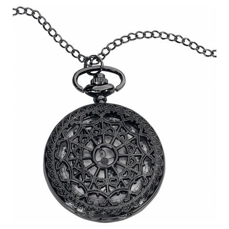 Mysterium® Kapesní hodinky Mandala Řetízkové hodinky černá