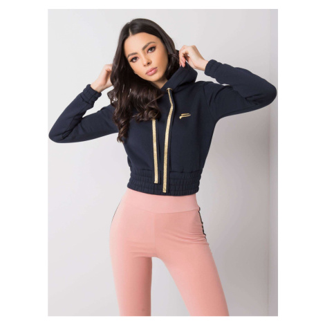 FOR FITNESS Ladies´ navy blue short sweatshirt Fashionhunters