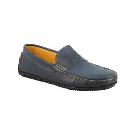 Leonardo Shoes 503 VITELLO AZZURRO Modrá