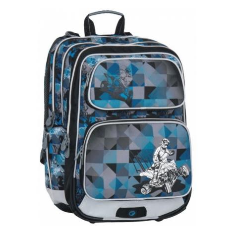 Klučičí školní batoh pro prvňáčky se čtyřkolkou Bagmaster GALAXY 7 F BLUE/BLACK/GREY