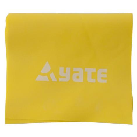 Cvičební pás YATE Fit Band 120 x 12 cm měkký, žlutá