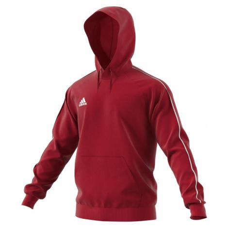 Mikina adidas Core18 Hoody Powred Červená / Bílá