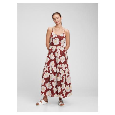 GAP Šaty cami v-neck maxi dress