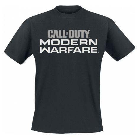 Call Of Duty Modern Warfare tricko černá