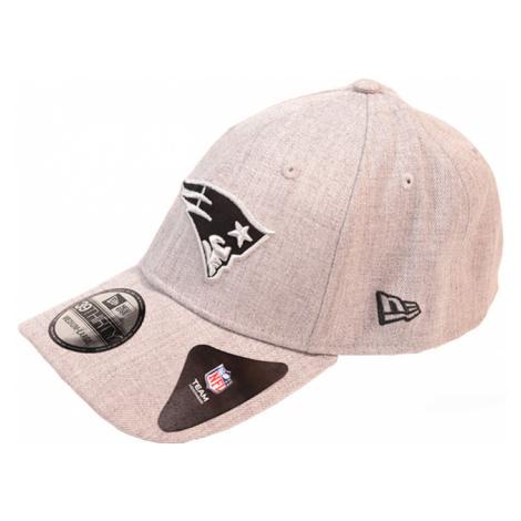 Kšiltovka New Era 39Thirty Heather Essential NFL New England Patriots Gray/Black