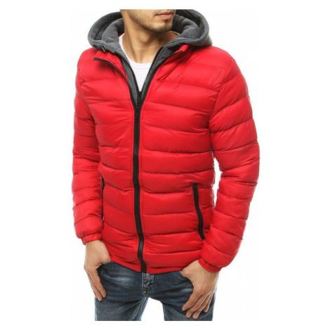 Dstreet Moderní přechodná bunda v červené barvě
