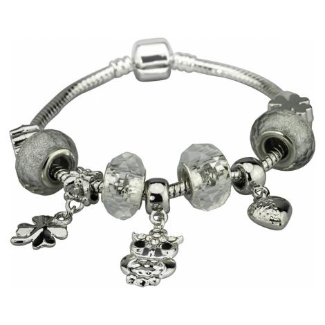 Linda's Jewelry Náramek s přívěsky White Owl INR053