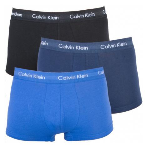 3Pack boxerky Calvin Klein Low Rise černé/tmavě modré/modré