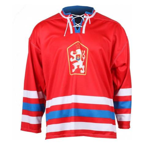hokejový dres Replika ČSSR 1976 barva: červená;velikost oblečení: M Merco