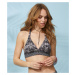 Plavky Odd Molly Blossom Halterneck Bikini Top - Černá