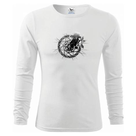Cyklo kotoučová brzda černobílá - Triko dětské Long Sleeve