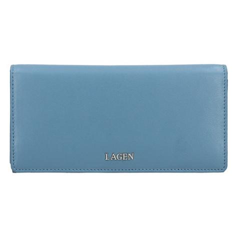 Dámská kožená peněženka Lagen Evelin - modrá